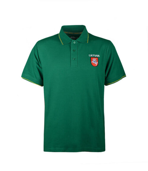 "Polo Shirt ""Lithuania"" Front"