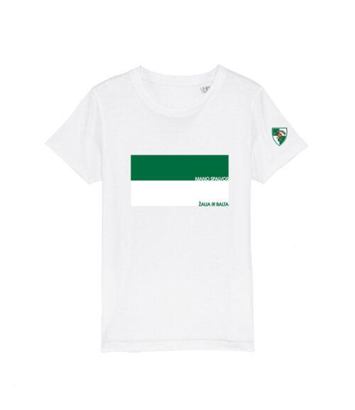 """Vaikiški marškinėliai """"Mano spalvos, žalia ir balta"""""""